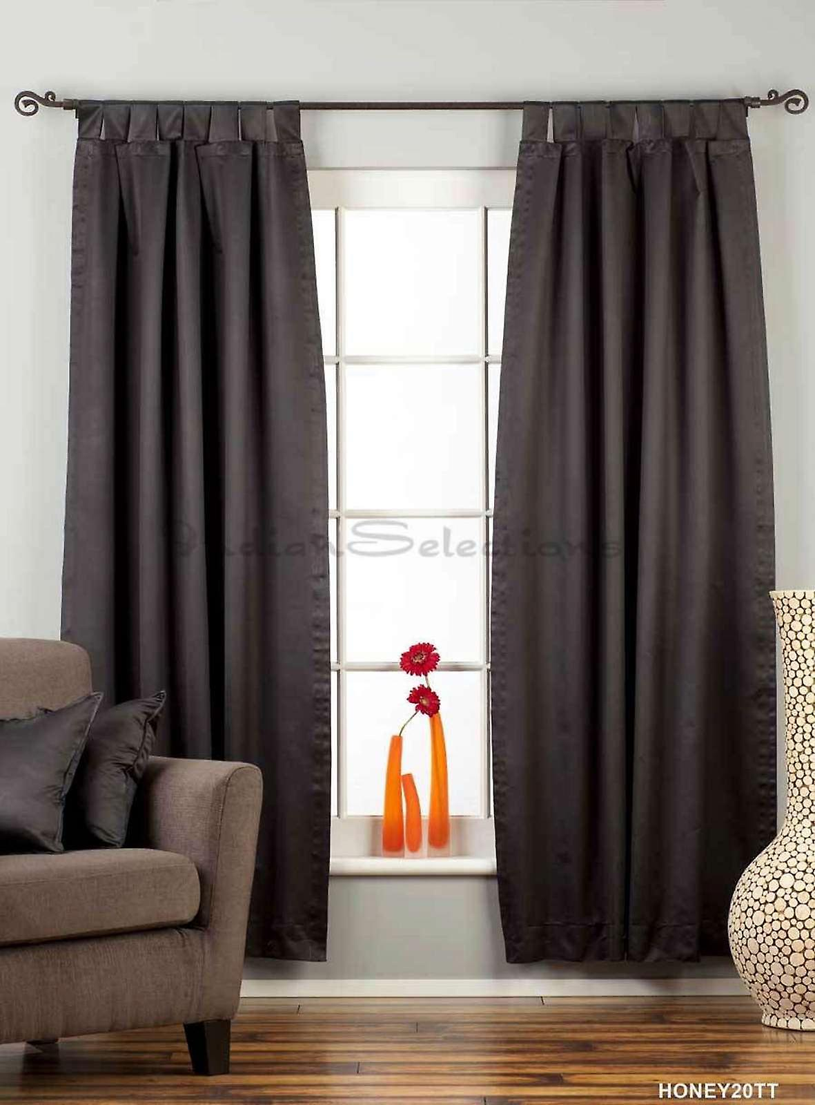 Tab top curtain panels