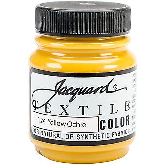 Jacquard Textile Color Fabric Paint 2.25oz-Yellow Ochre TEXTILE-1124