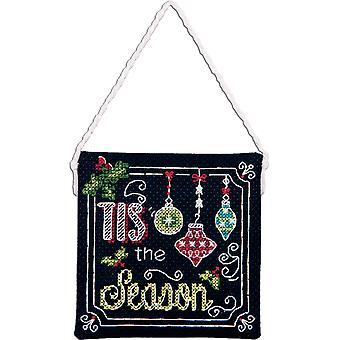 Tis The Season Ornament Counted Cross Stitch Kit 4