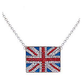 Butler & Wilson Crystal Square Union Jack-Anhänger