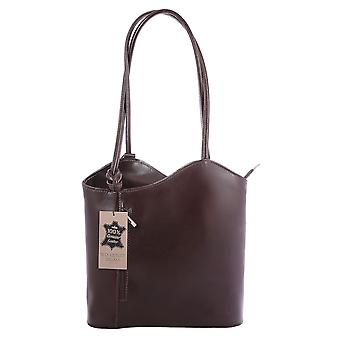 CTM Shoulder Bag genuine leather woman smooth elegant made in italy