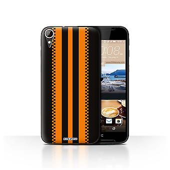 STUFF4 Case/Cover for HTC Desire 830/Japanese/Black/Racing Car Stripes
