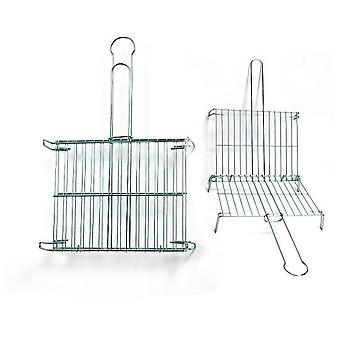 Comgas Tinned double 45x50 grid. (Garden , Barbecues , Cooking tools)