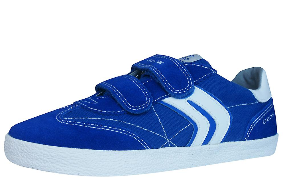 Geox Canvas J Kiwi B.M Boys Canvas Geox and Suede Trainers / Shoes - Blue 43f59d