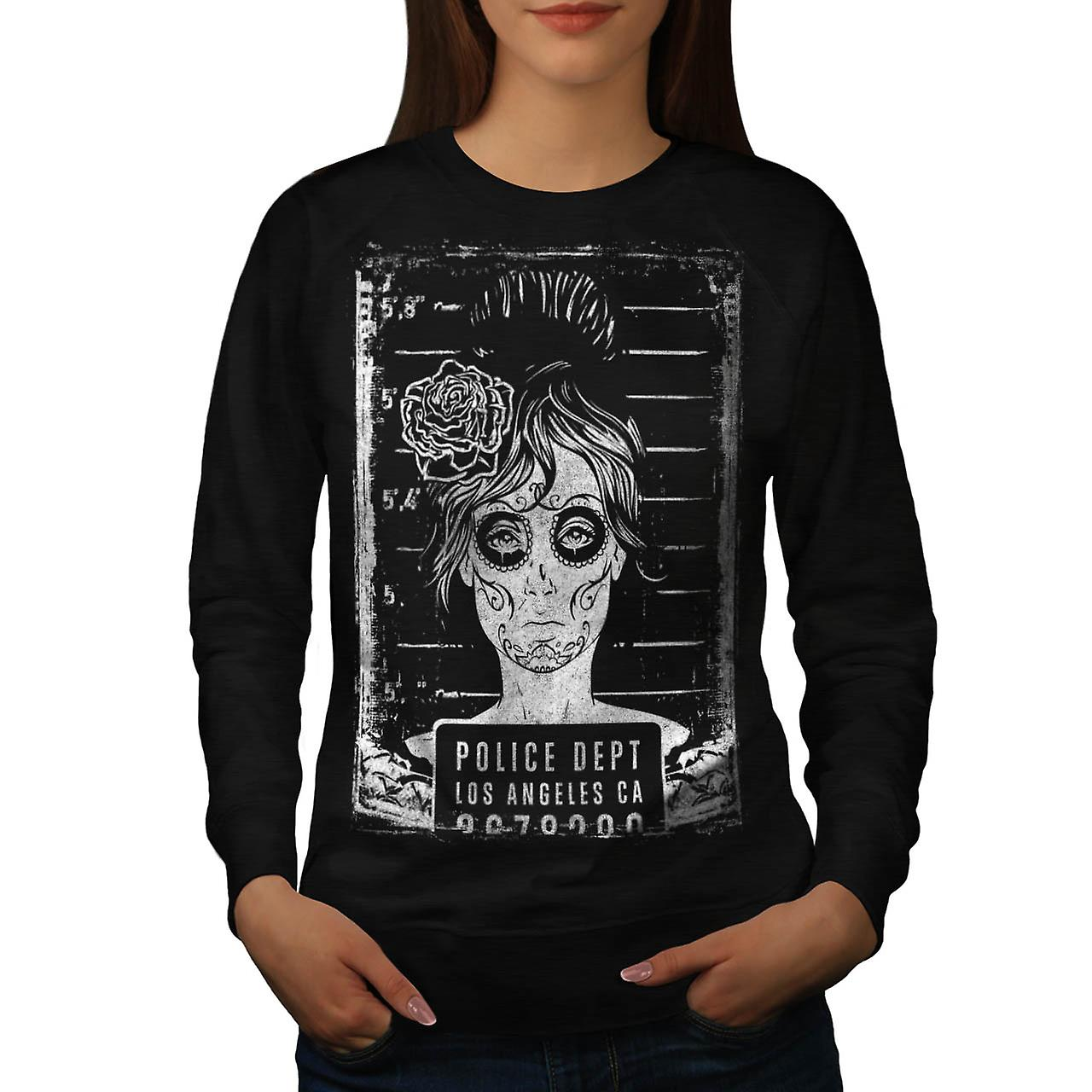 Police Department FBI LA Girls Women Black Sweatshirt | Wellcoda