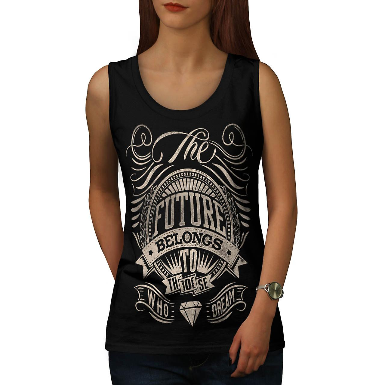 Future For Dream USA About Life Women Black Tank Top | Wellcoda