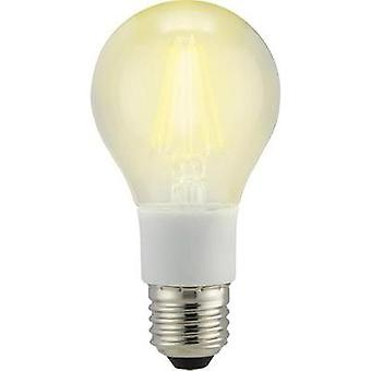 LED E27 Arbitrary 7 W = 60 W Warm white (Ø x L) 60 mm x 114 mm EEC: A++ Sygonix Filament, dimmable 1 pc(s)