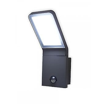 LED Wall lamp outdoor motion detector Villads dark grey 6500 K