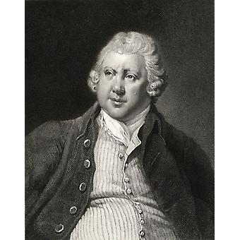 Sir Richard Arkwright 1732-1792 English Textile Industrialist And Inventor From The Book Gallery Of Portraits Published London 1833 PosterPrint