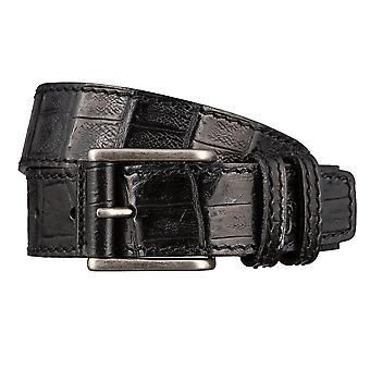 OTTO KERN belts men's belts leather belt black 2962