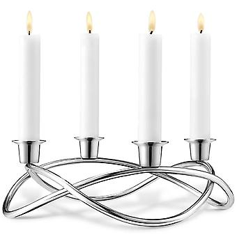 Georg Jensen Season stainless steel candle holder polished D 26 cm