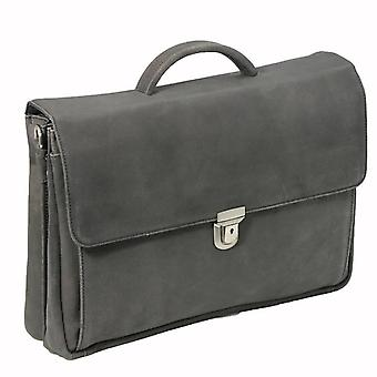 Piviere di cuoio Notebook Bag Black