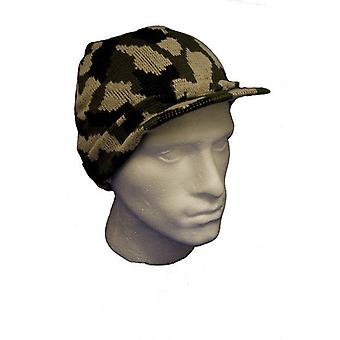 Camouflage Beanie With Peak cap hat head wear alternative
