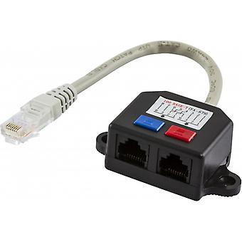 DELTACO Y-cable RJ45, UTP (unshielded)