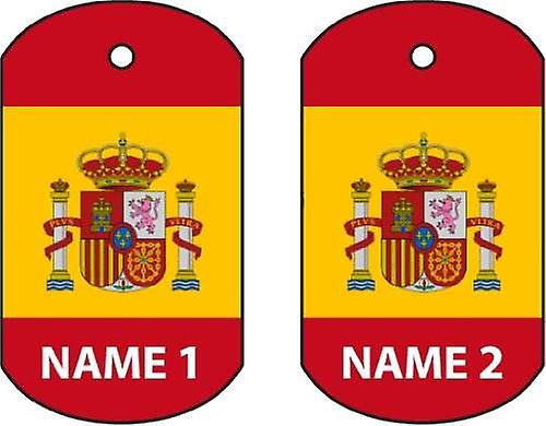 Personalised Spain Dog Tag Car Air Freshener