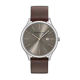 Kenneth Cole New York Herren Uhr Armbanduhr Leder KC15096003