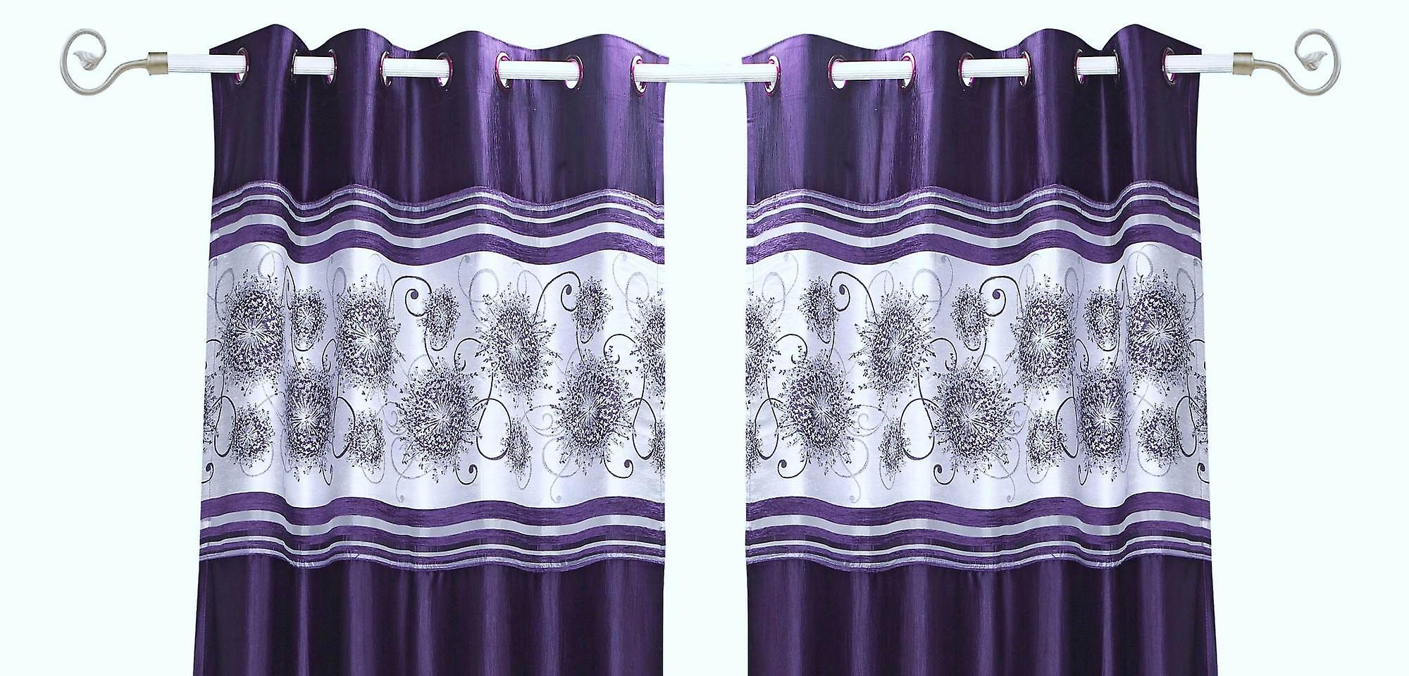 Grommet Top Curtains 63 Inch Purple Grommet Top Satin Curtain Panel Drape Warm Home Designs 54
