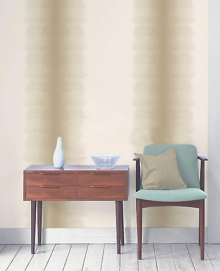 Fine Decor Tie Dye Stripes Chocolate Beige Natural Retro Wallpaper