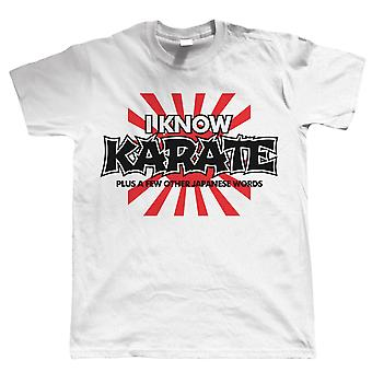 I Know Karate, Mens Funny Martial Arts TShirt