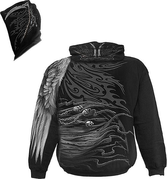 Spiral - DEATH ANGEL WRAP - Wrap Around Long Sleeve T-Shirt .