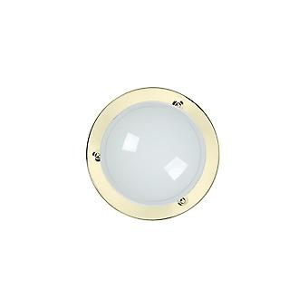 Lucide Lucide Opal Plate Brass Ring Ceiling Light