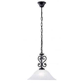 Eglo Murcia 1 tradicional colgante con luz techo luz Fini negro