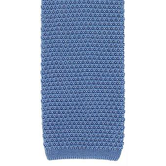 Michelsons of London Silk Knitted Tie - Sky Blue