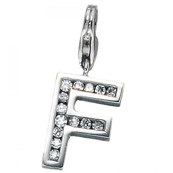 Single earrings-925 /-s F charms silver F letter F pendant