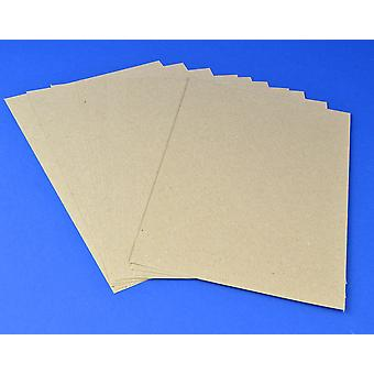 125 A4 Natural Brown Kraft Card Sheets for Crafts - Recycled Style