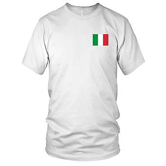 Italy Italian Country National Flag - Embroidered Logo - 100% Cotton T-Shirt Ladies T Shirt