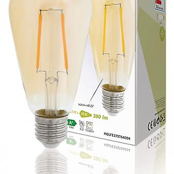 HQ LED Retro bulb E27 Dimmable ST64 5.1 W 380 lm 2500 K