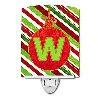 ضوء الليل السيراميك الأولية الحرف W أورانمينت عطلة عيد الميلاد
