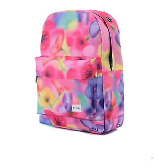 Spiral Florescent Floral Backpack