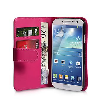 Yousave Samsung Galaxy S4 effekt tegnebog læderetui - Hot Pink