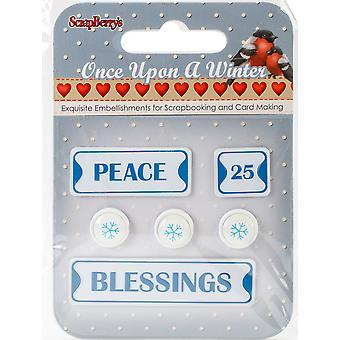 ScrapBerry's Once Upon A Winter Metal Words & Icons-#1: Peace, 25, Blessings & Snowflakes 340988