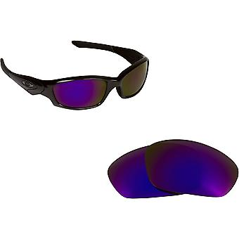 Straight Jacket Replacement Lenses Purple Mirror by SEEK fits OAKLEY Sunglasses