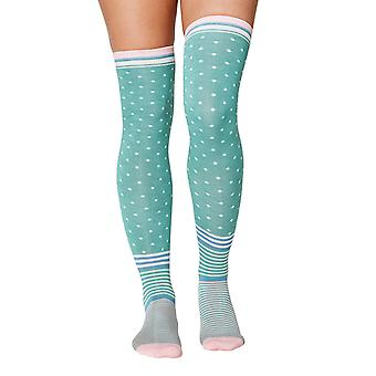 Jemima women's soft bamboo over-the-knee socks, field green | Thought