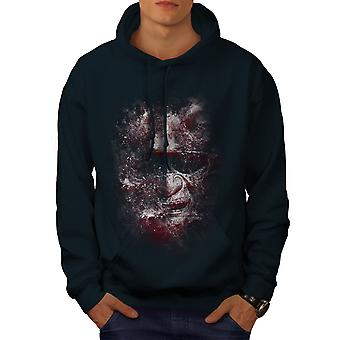 Katana Face Art Fantasy Men NavyHoodie | Wellcoda