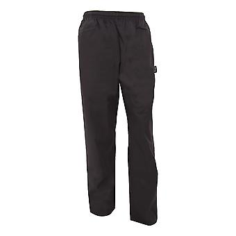Dennys Unisex Black Elasticated Trouser / Chefswear