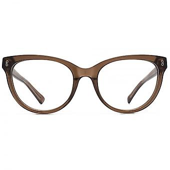 Hook LDN Wander Chunky Cateye Glasses In Streaky Grey