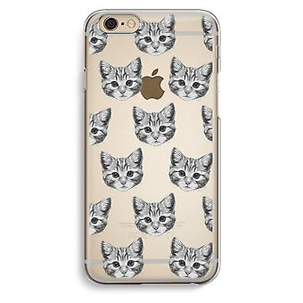 Iphone 6 6s Transparent Case (Soft) - Kitten