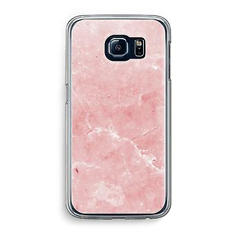 Samsung Galaxy S6 Transparent Case - Pink Marble