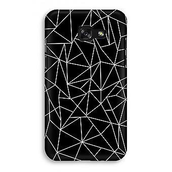 Samsung Galaxy A3 (2017) Full Print Case - Geometric lines white