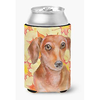 Carolines Treasures  BB9968CC Red Dachshund Fall Can or Bottle Hugger