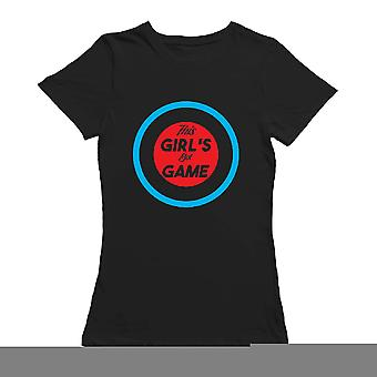 This Girl's Got Game Curl Graphic Women's T-shirt
