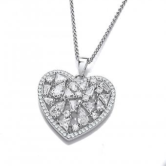 Cavendish French CZ's Galore Heart Pendant without Chain