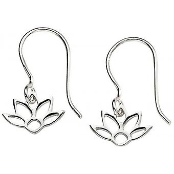 Beginnings Lotus Drop Earrings - Silver