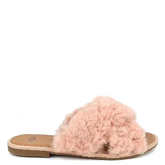 Ugg Joni Pink Criss Cross Slides