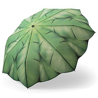 Pocket umbrella umbrella motif banana leaves