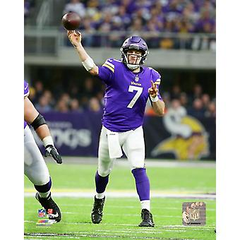 Case Keenum 2017 Action Photo Print